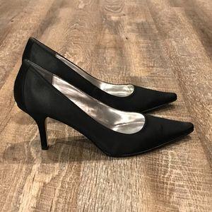 Calvin Klein Satin Black Heels
